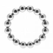 Meridian Stainless Steel Beaded Cock Ring ML