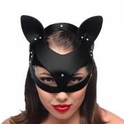 Master Series Bad Kitten Leather Cat Mask
